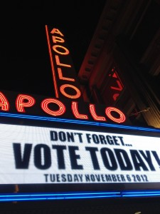 Don't forget to vote (Obama in Harlem)